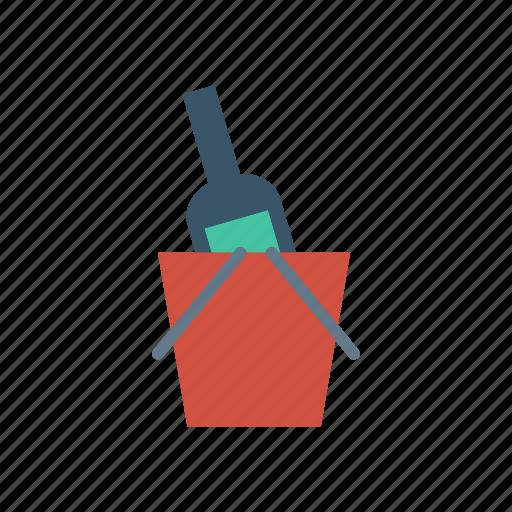 basket, bottle, food, wine icon