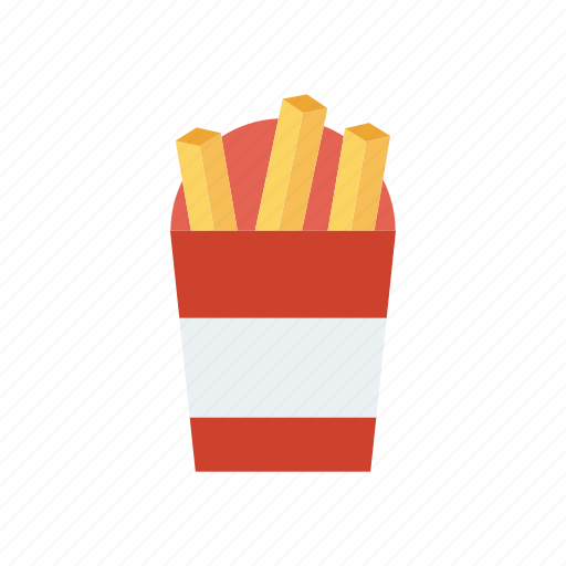 chips, eat, fastfood, fries icon
