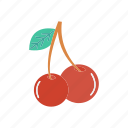 berry, cherry, fruit, healthy icon