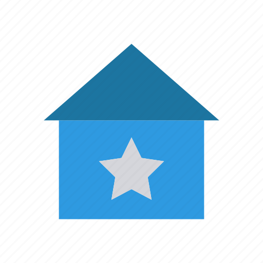 home, house, ranking, star icon