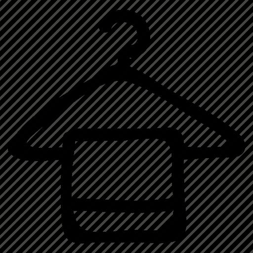 bath, hanger, hotel, laundry, restroom, service, towel icon