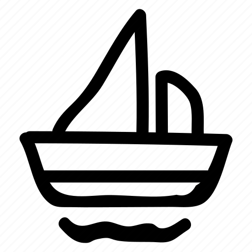 boat, camping, cruise, sea, ship, tourist, transport icon