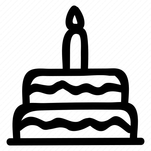 birthday, cake, candle, celebration, dessert, love, mariage icon