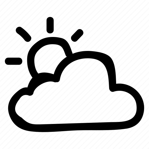 cloud, rain, rise, summer, sun, weather, winter icon
