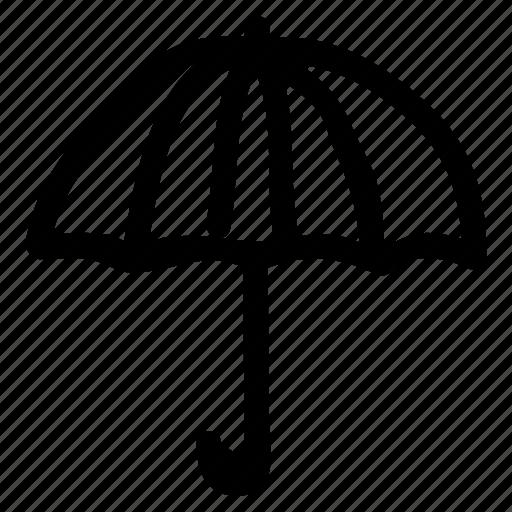 beach, holding, protection, rain, summer, umbrella, vacation icon