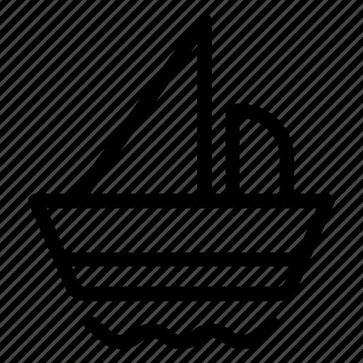 boat, camping, cruise, sea, ship, tourist, transport icon