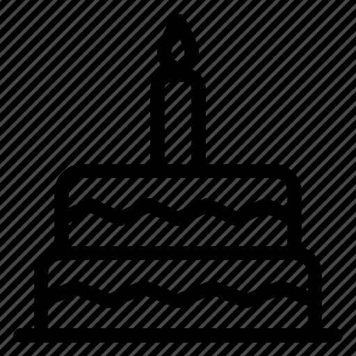 birthday, cake, candle, celebration, dessert, love, mariage icon