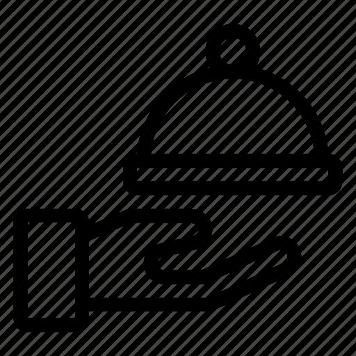 dish, food, hostel, hotel, restaurant, room, service icon