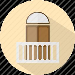 balcony, hotel, restaurant icon