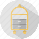 bellboy, hotel, restaurant, trolley icon