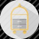 bellboy, hotel, restaurant, trolley icon