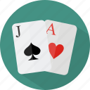 blackjack, hotel, restaurant icon