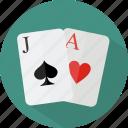 blackjack, hotel, restaurant icon