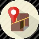 hotel, map, restaurant icon
