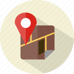 hotel, map, restaurant icon