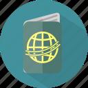 hotel, passport, restaurant icon