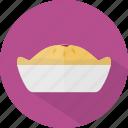 hotel, pie, restaurant icon