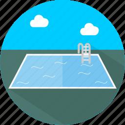 hotel, pool, restaurant, swimming icon