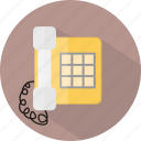 hotel, restaurant, telephone icon