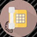 hotel, restaurant, telephone icon