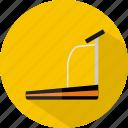 hotel, restaurant, treadmill icon