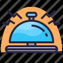 alarm, alert, bell, hotel, ring, service icon
