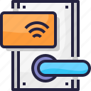 card, house, key, room, secure, security icon