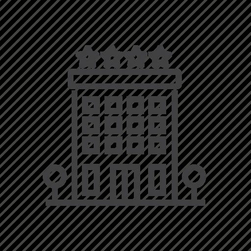 building, construction, hotel, restaurant icon