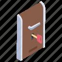 access key, door key, key chain, lock, master key icon