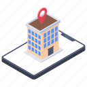 global access, gps, hotel location, location, navigation, network location, restaurant icon