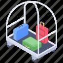 luggage, luggage trolley, tourist bag, travel bag, trolley, trolley bag, wheel bag icon