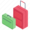 bag, luggage, tourist bag, travel bag, trolley, trolley bag, wheel bag icon