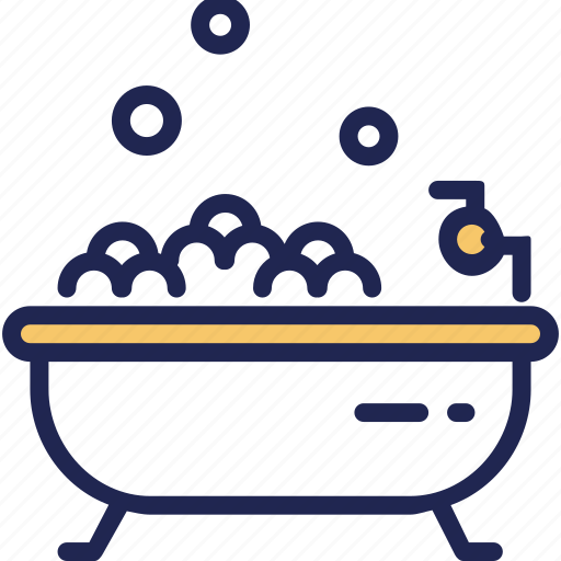 bathroom, bathtub, hotel, hygienic, service icon