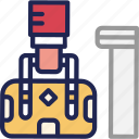 bag, bellboy, hand, hotel, service, suitcase icon
