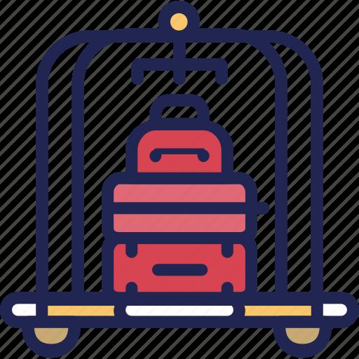 bag, bellboy, doorman, hotel, porter, service, suitcase icon