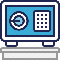 box, hotel, safe, security, service icon
