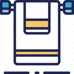 clean, hotel, service, stack, towels icon
