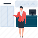 customer service, front desk, hospitality, hotel reception, reception icon