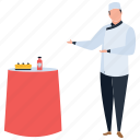 customer service, hospitality, hotel waiter, restaurant staff, serving food icon