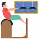 exercise, fitness, gym, physical activity, stretching exercise icon