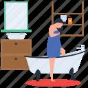 hospitality service, hotel housekeeper, hotel housekeeping, housekeeping, room service, sweeper icon