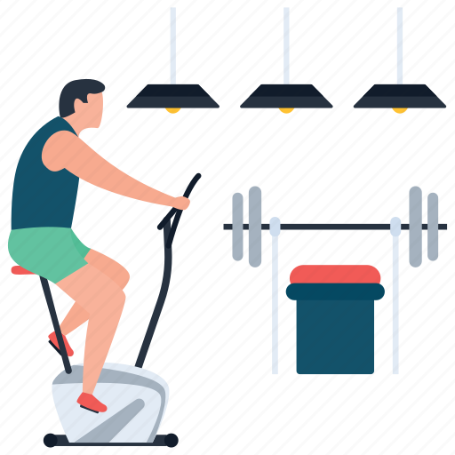 dumbbells, exercise, fitness, gym, gyming, hotel gym, typer machine icon
