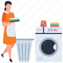 cleaning, cloth delivery, ironing service, laundry service, room service icon