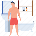 bath, bathing, bathroom, bathtub, hotel washroom, skincare icon