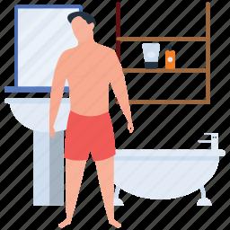 bath, bathing, bathroom, bathtub, hotel washroom, skincare