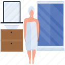 after bath, bathing, beautycare, cleaning, fresh, shower icon