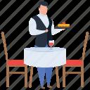 food dish, food serving, hot food, platter, restaurant icon