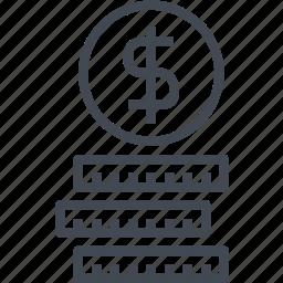 cash, coin, dollar, money, service icon