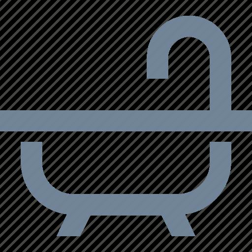bath, faucets, hotel, leisure, service, tube icon