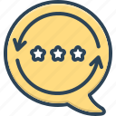 comments, experience, feedback, recognition, response, review, testimonial